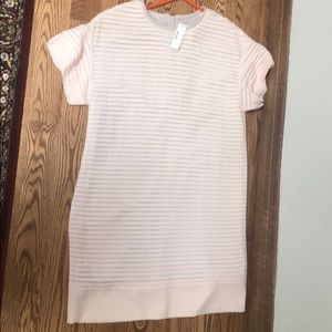 JCREW blush shift dress size 6 -NWT